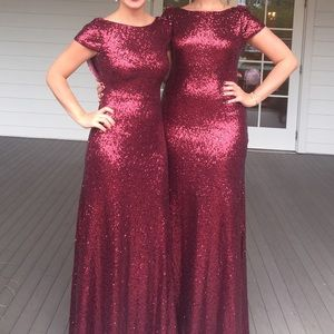 Revelry Sequined Formal Gown